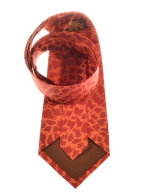 Billede af Rødt silkeslips med mønster