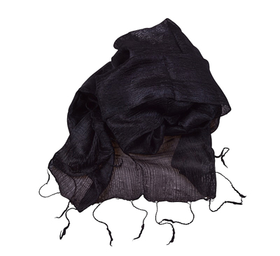 Billede af Sort silketørklæde
