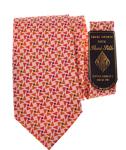 Billede af Lyserødt slips med trekant motiv
