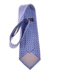 Billede af Blåt silke slips med trekant mønster