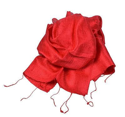 Billede af Rødt silketørklæde