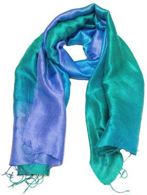 Bluesilk silketørklæde