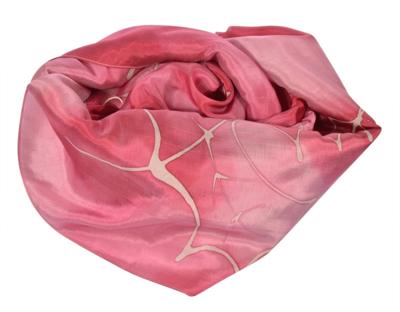 Rosa farvet silke sjal