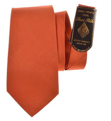 Billede af Elegant abrikosfarvet silke slips