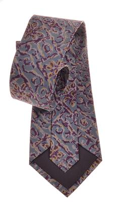 Billede af Gråt slips med motiv