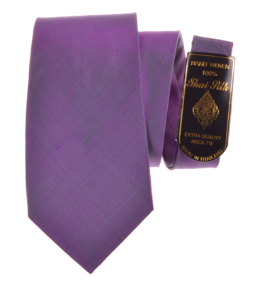 Billede af Elegant violet slips med grøn tone