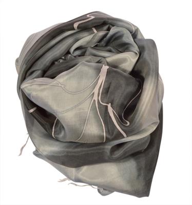 Silke hals tørklæde i sorte farver