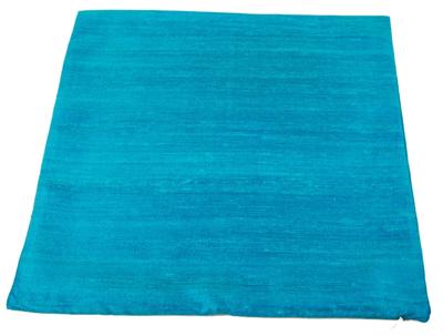 blåt pudebetræk