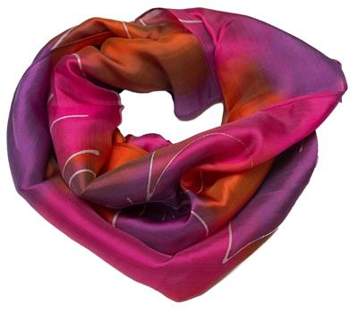 Silke halstørklæde batik farvning