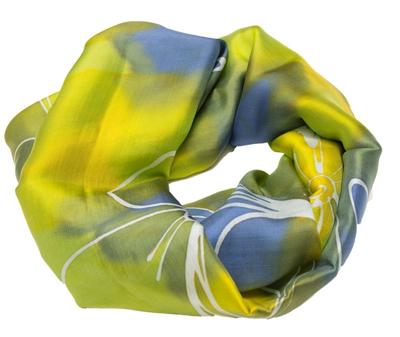 Aflangt silketørklæde batik