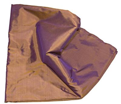 Billede af To farvet Violet kobberbrun silke metervare