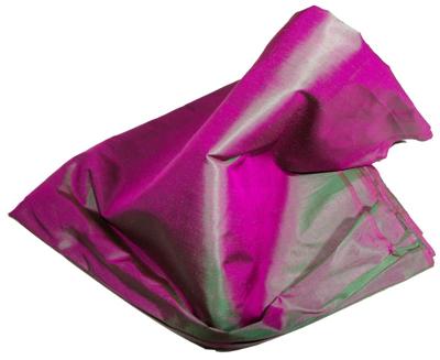 Billede af Violet grøn silke stof