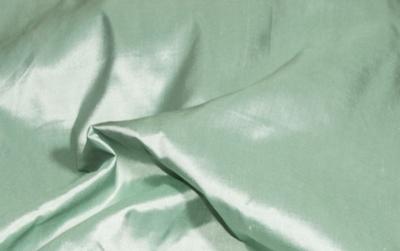 Billede af Hvid - grøn Silke metervare