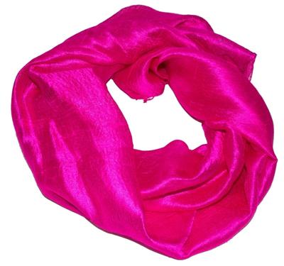 Billigt silketørklæde i rød farve