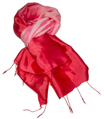 Billede af Rød pink  silketørklæde