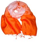 Billede af Orange pastel silketørklæde