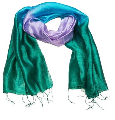Stort silkehalstørklæde