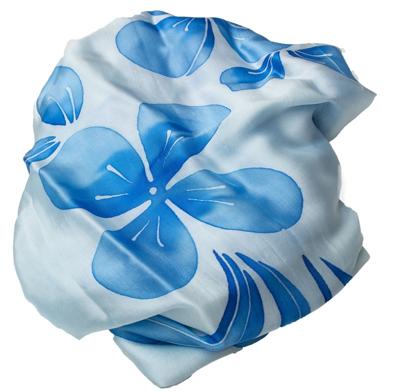 Billede af Lys Blå  silketørklæde