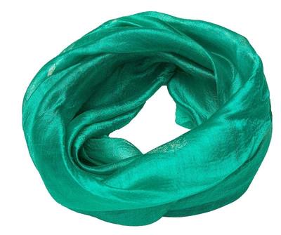Smalt grønt tørklæde af silke