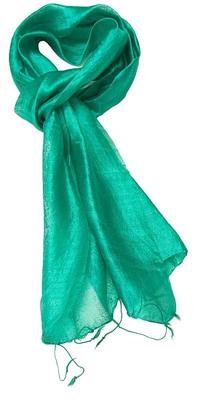 Smalt grønt silketørklæde