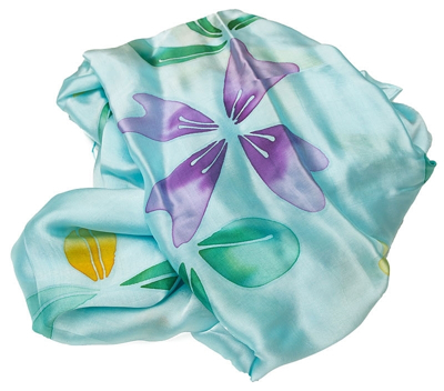Mint silketørklæde