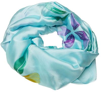 Mint silke tørklæde