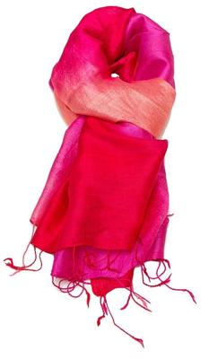 Billede af Rød og Violet silketørklæde