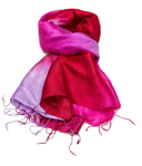 Billede af Pitaya Red silketørklæde