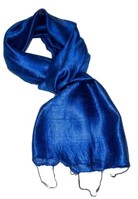 Lille Blåt silke tørklæde