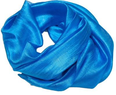 Fint blåt silketørklæde i thai silke