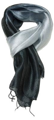 Aflangt sort silketørklæde