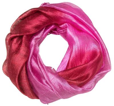 Rød og pink silke tørklæde