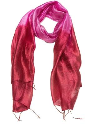 Silketørklæde i røde farver