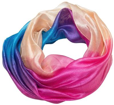 Pasetl farver tørklæde i silke