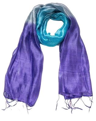 silketørklæde i Dupion vævning
