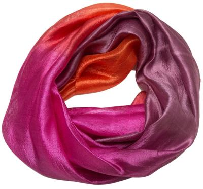 Silke halstørklæde i pink og orange