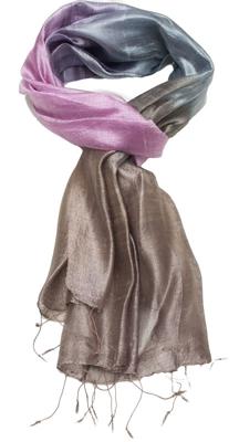 Smukt sart silketørklæde