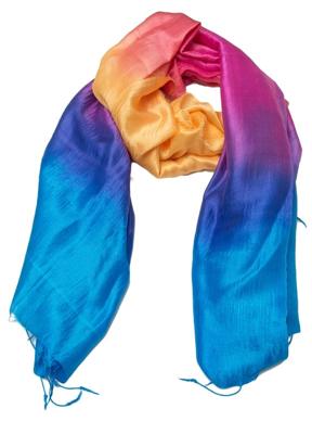 silketørklæde i alle regnbuens farver