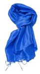 Ensfarvet blåt silketørklæde